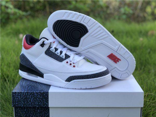 Air Jordan 3 Retro Denim Fire Red