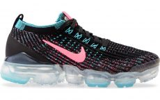 Nike Air VaporMax Flyknit 3 Black Baltic Blue Hyper Pink (W)